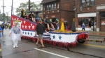 Class of '67's float in CF Bicentennial Parade Aug. 11