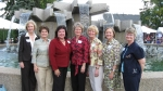 From left: Laurie (Earnheart) Williamson, Pat (Dilworth) Ingalls, Bonnie (Hall) Kelly, Kathy (Blaser) Heacock, Linda (Ca